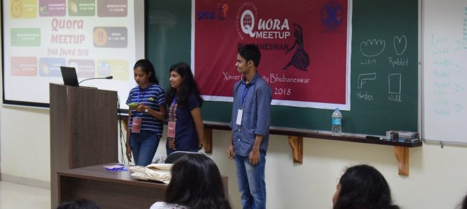 Xavier University Bhubaneswar hosted Quora World Meetup at its campus on June 24th
