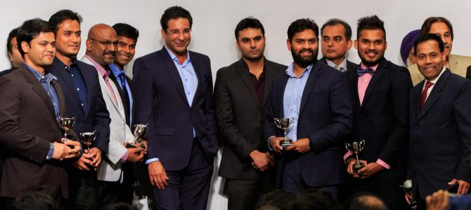 Nice to see an all Odia Cricket Team in Michigan USA doing wonders, ended finalist, receiving prize from Wasim Akram