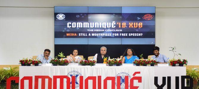 Xavier University Bhubaneswar hosted its flagship Media Conclave – Communiqué'18