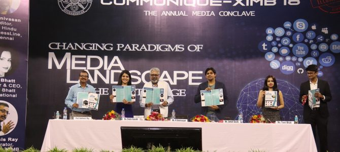XIMB bhubaneswar held the fifth edition of Communiqué – Annual Media Conclave on 9th September 2018