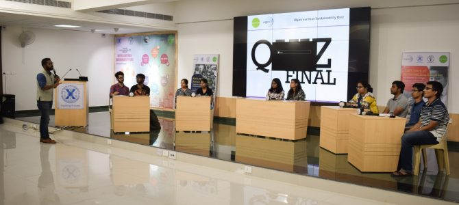 Xavier School of Sustainability (XSoS) with Wipro hosted Wipro Earthian Sustainability Quiz at Xavier University Bhubaneswar campus.