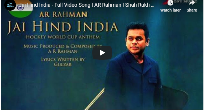 Odisha Hockey Worldcup Anthem Here Comes The Full Video