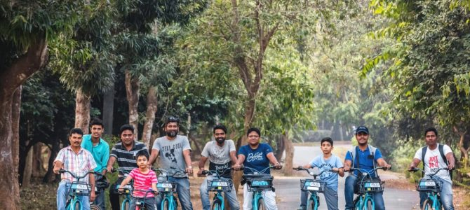 Cyclists trail State Botanical Garden as the maiden pedalling venture rolls out in Nandankanan