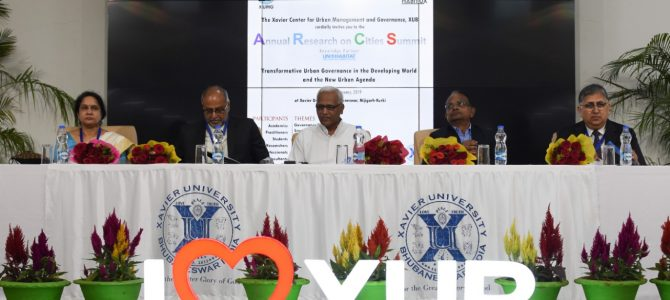 Annual Research on Cities Summit – Xavier Center for Urban Management and Governance