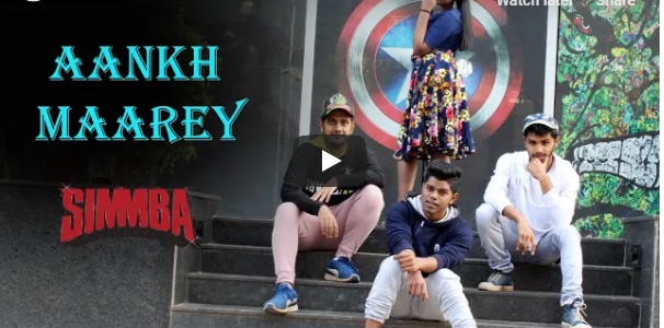 Aankh Marey – SIMMBA || Dance Cover shot on the streets of Bhubaneswar by team  Dance ADDYCTION