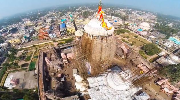 puri jagannath temple top view