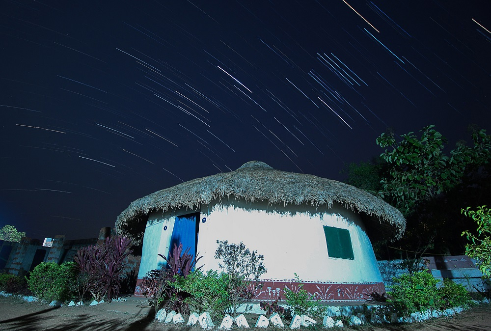 Ecotourism Cottage at Night- Startrails bhubaneswar buzz