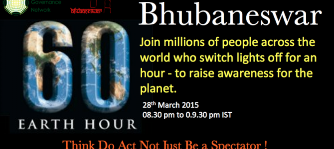 Will you join others in Bhubaneswar to celebrate Earth hour today?