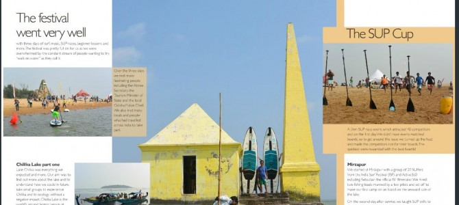 India Surf Festival & SUP in Odisha by Paul Hyman featured in PADDLER magazine