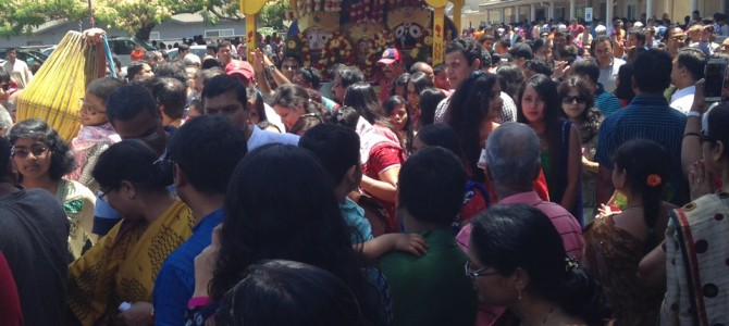 Rath Yatra Celebrated in Fremont California USA  – pics courtesy Siddhartha Misra