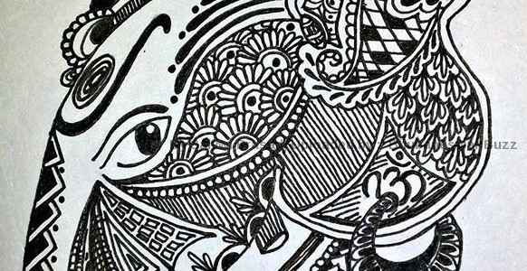 Awesome Doodle Art on occasion of Ganesh Puja by Salvwi Prasad