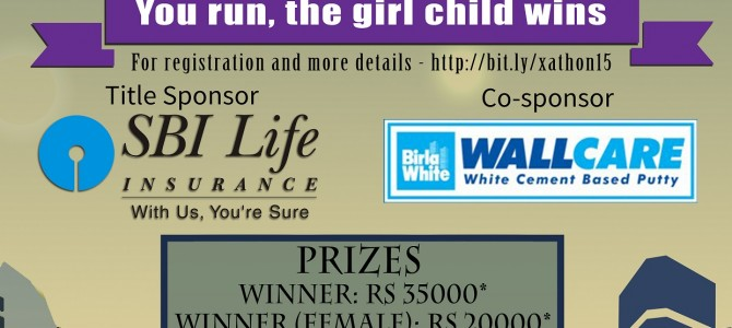 XIMB Bhubaneswar Presents X-athon '15: 'You run, the girl child wins'