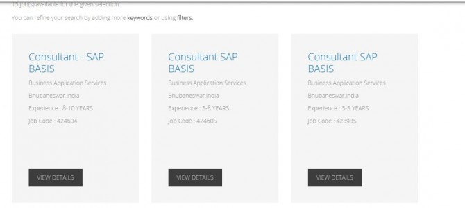 Nice to see WIPRO on hiring spree for SAP professionals in bhubaneswar