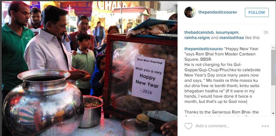 Gupchup vendor gives free this new year bhubaneswar buzz