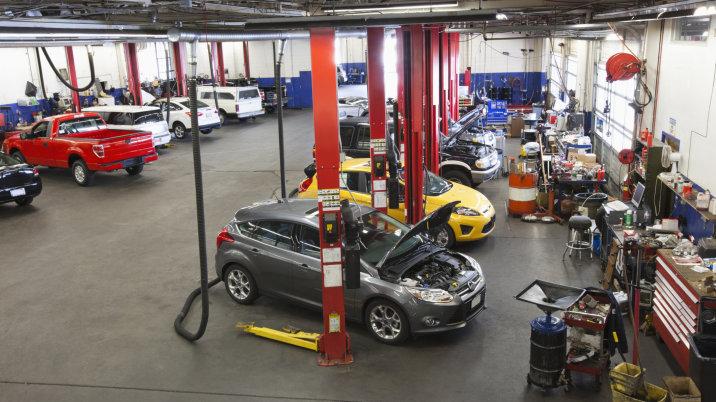 automobile service cluster