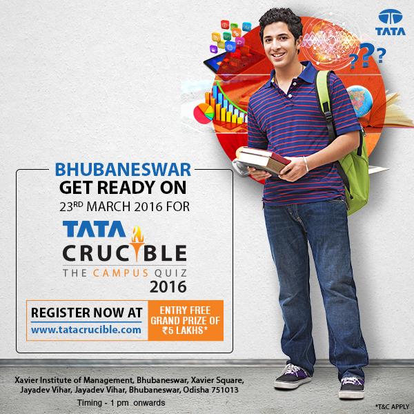 tata crucible campus quiz bhubaneswar buzz
