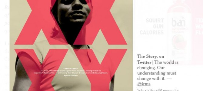 Awesome to see Dutee Chand on cover of New York Times Magazine print edition