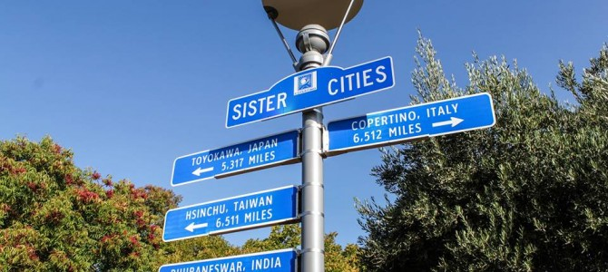 Nice to see Bhubaneswar Sign added in Cupertino California USA both being sister cities