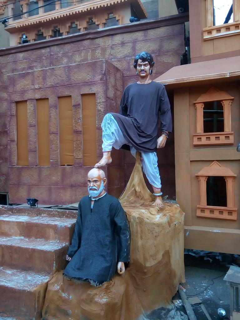 Bahubali theme durga puja old station bbsrbuzz 2