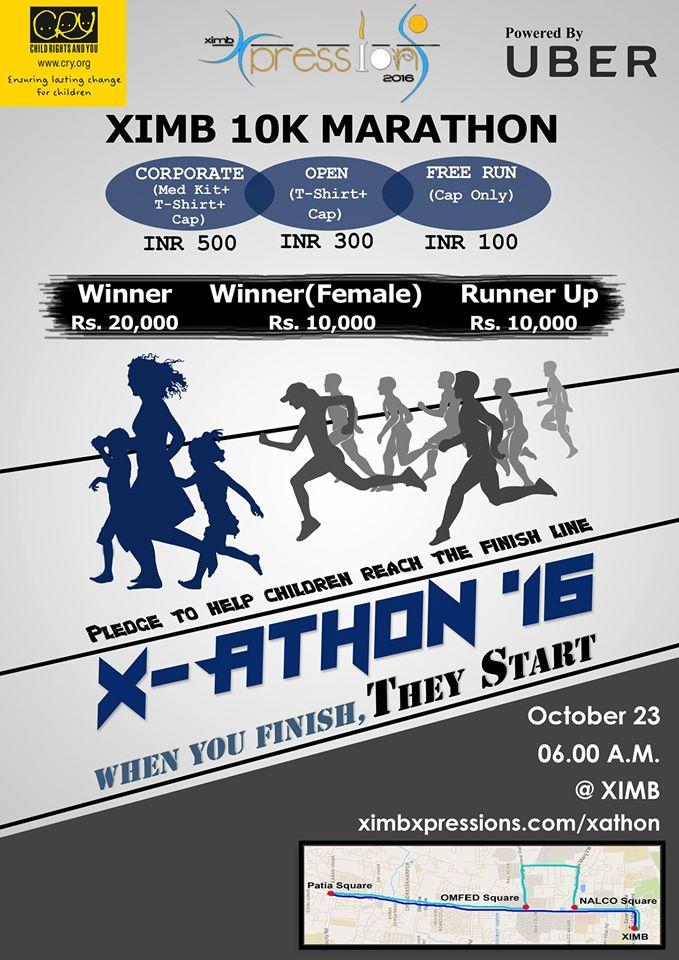 Xathon16 marathon XIMB bhubaneswar buzz