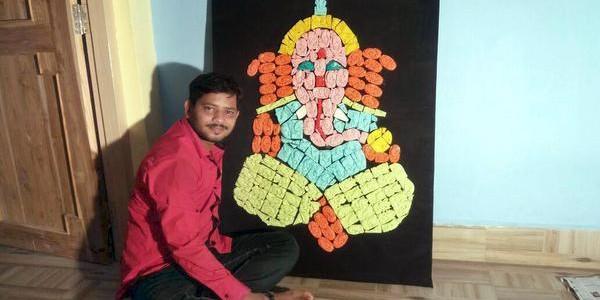 Odisha man in India Book of Records for Ganesh idol made with 207 pieces of soap