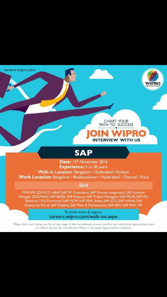 SAP walkin wipro bhubaneswar buzz
