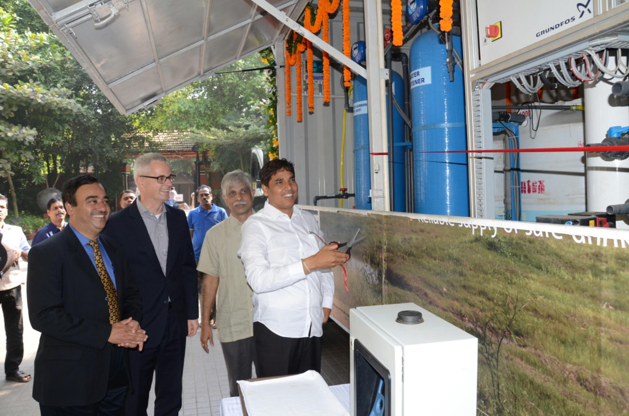 Grundfos & eKutir launch their Unique Mobile Water Purification
