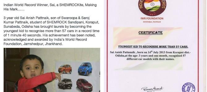 Heard about 3 year old Anish Pattnaik of Sunabeda Odisha? India Record holder and Brand ambassador of Shemrock
