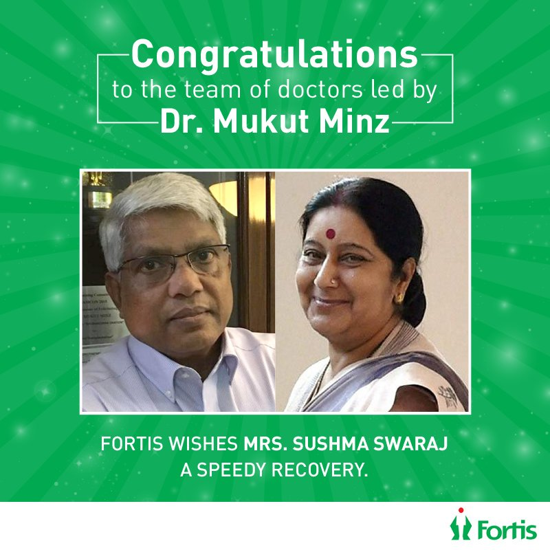 mukut minz sushma swaraj