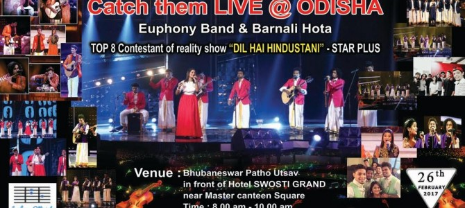 Barnali Hota and Euphony Band combo of Star Plus Reality TV show Dil Hai Hindustani to perform in city