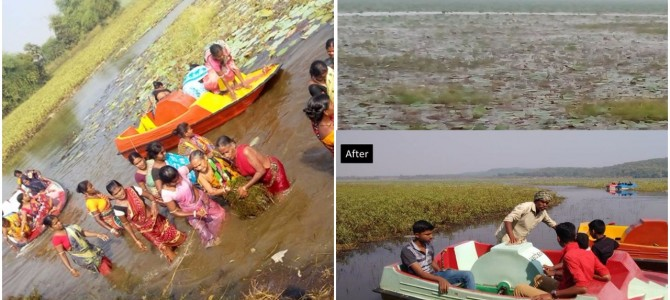 Women of Odisha show the way of enterprise, lead the way by cleaning Ansupa Lake – Goonj