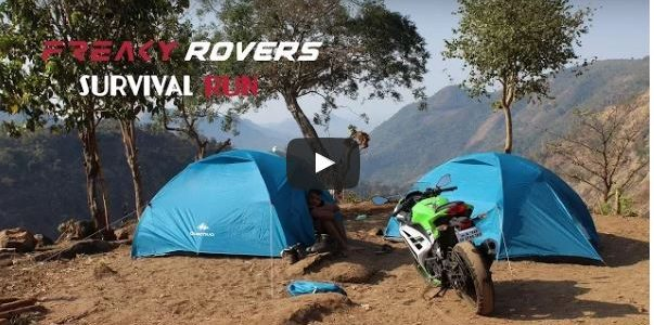Survival Run : How is it to drive through Odisha and survive in bare minimum camping and food, watch team Freakyrovers do it