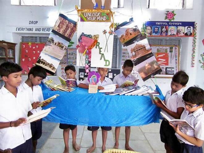 hanging library project ganjam odisha