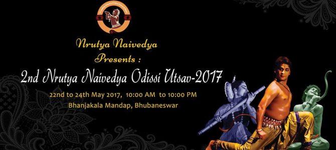 Nrutya Naibedya Odissi Utsav will be staged at Bhanja Kala Mandap from May 22 to 24