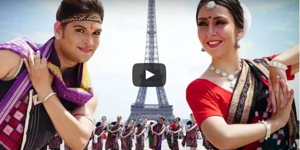 From Eiffel Tower Paris in France, here comes the full video of Sambalpuri Dance with Saswat, Mahina and team