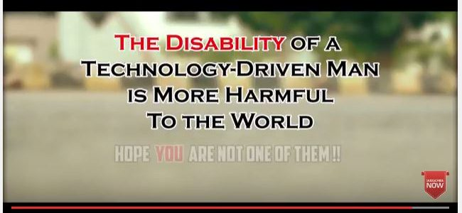An awesome message on overuse of technology in our life shot in streets of bhubaneswar by Dreamscheme