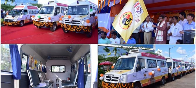 11 Mobile Medical Units to provide doorstep healthcare services in villages of Odisha flagged off by Dharmendra Pradhan