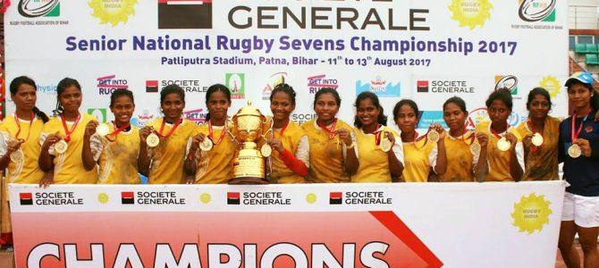 Odisha girls do it again, Win Senior National Rugby Championship thrashing West bengal by 15-5