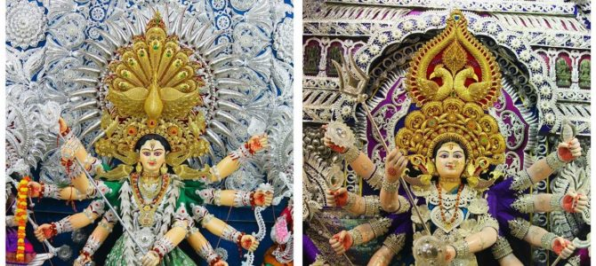 Cuttack Dargha Bazar Durga Puja all set to debut Chandi Medha for the first time this year, total 24 now in city