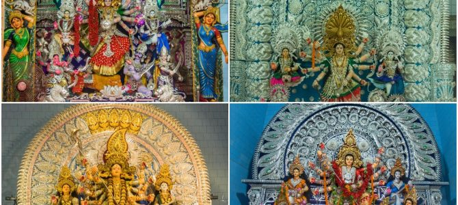 A virtual tour of beautiful Cuttack Durga Puja Pandals showcasing Silver Filigree through the lens of Ashwas
