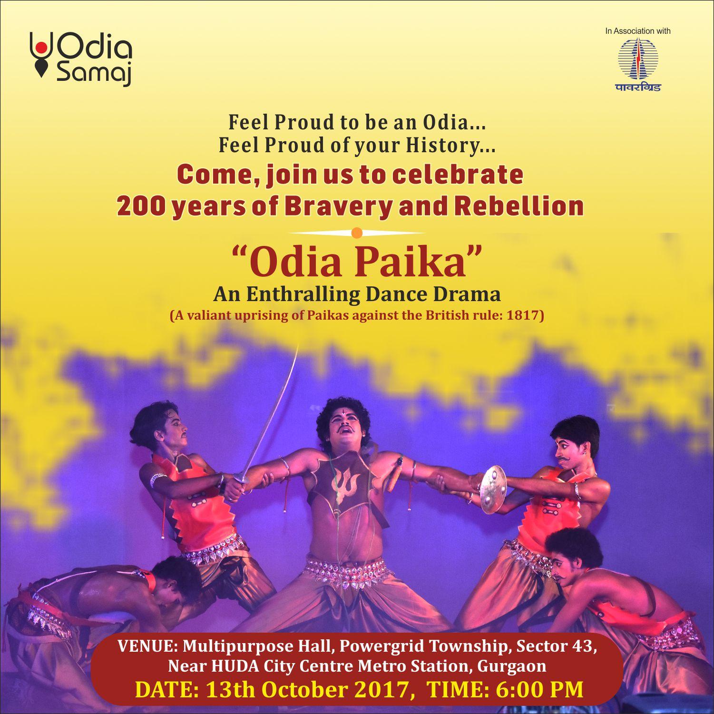 Odia Samaj In New Delhi Presents Enthralling Dance Drama Odia Paika At Gurgaon On October 13