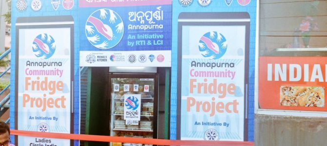 First Ever Community Fridge to feed hungry people installed near Sainik School Bhubaneswar