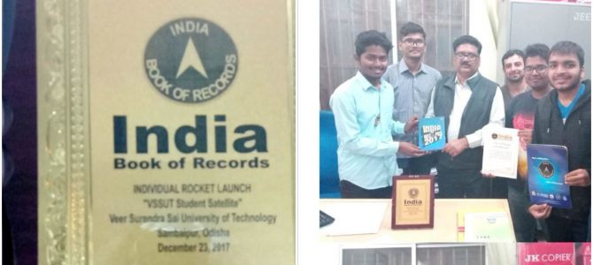 VSSUT Student satellite has set Asia's First Student rocketry record in prestigious India Book of Records