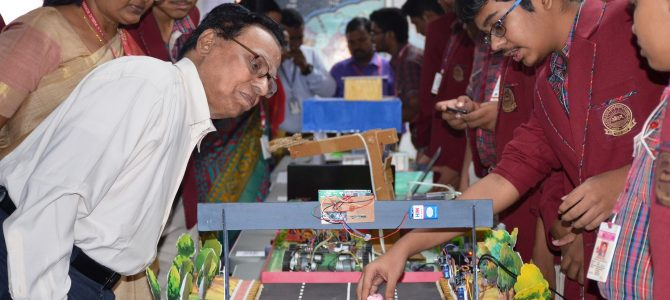 Kids of DAV Pokhariput showcase their creative best in their annual exhibition titled Cognitive Cognizance: A Sci-Linguistic Confluence -2018