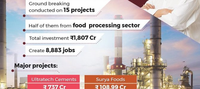 P&A Bottlers to set up a brewing industry in Dhenkanal, Welspun Orissa industrial park in Bhadrak, Surya Foods biscuit manufacturing in Khurdha