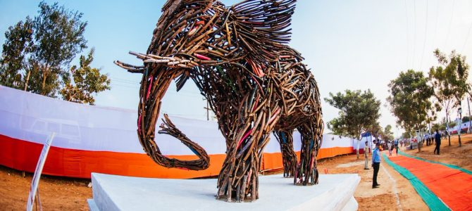 India's first open air Waste to Art Museum kicks off in Bhubaneswar, 21 artists from 14 countries joined hands to make sculptures