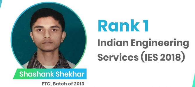 KIIT Bhubaneswar and IIT Kharagpur alumni Shashank Shekhar tops Indian Engineering Services exam