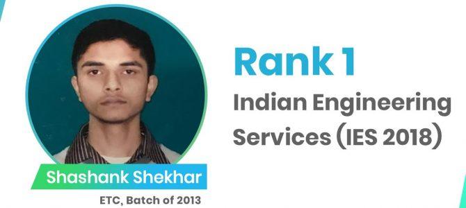 KIIT Bhubaneswar and IIT Kharagpur alumni Shashank Shekhar tops Indian Engineering Services exam