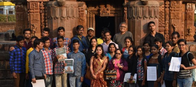 India Heritage Walk Festival 2019 – Visually challenged students experienced Kalinga Architectural style