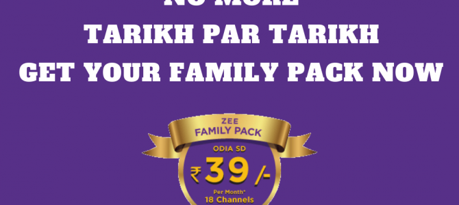 ZEE Family Pack – When more is available at low prices, a nice article after the recent TRAI changes
